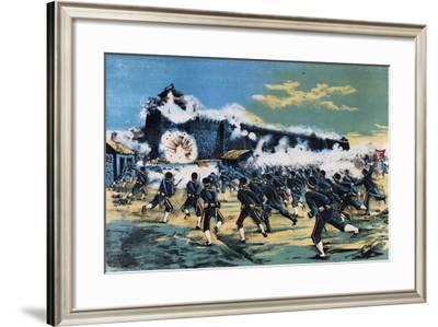 Kinshou Attack, 1895, First Sino-Japanese War--Framed Giclee Print