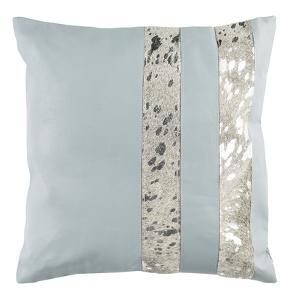 "Kinston Metallic Cowhide 20""X20"" Pillow"