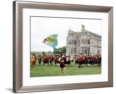 Kirby Hall, Northamptonshire, English Civil War Soldiers 17th Century Historical Re-Enactment--Framed Giclee Print
