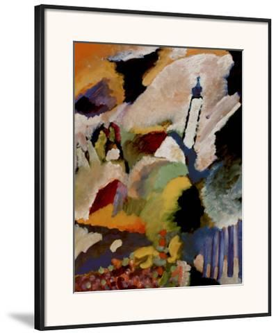 Kirche in Murnau, 1910-Wassily Kandinsky-Framed Art Print