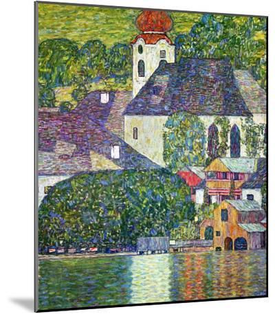 Kirche in Unterach Am Attersee, Church in Unterach on Attersee-Gustav Klimt-Mounted Print