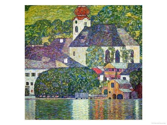 Kirche in Unterach Am Attersee, Church in Unterach on Attersee-Gustav Klimt-Giclee Print