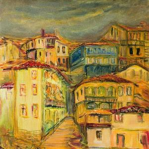 Old Yellow Village Houses by kirilstanchev