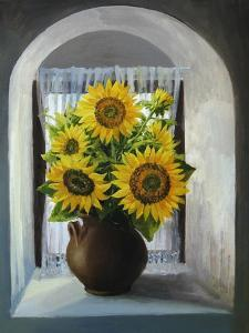 Sunflowers On The Window by kirilstanchev