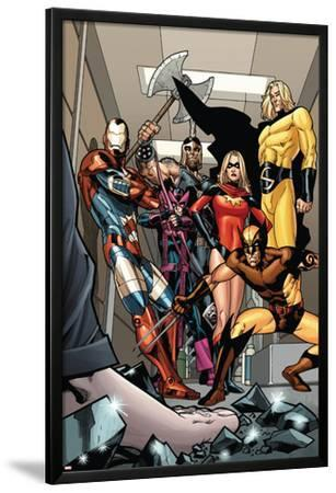 Dark X-Men No.3 Group: Iron Patriot, Wolverine, Ms. Marvel, Hawkeye, Ares and Sentry Fighting