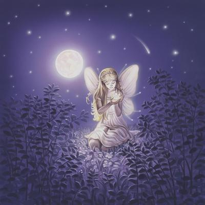 Girl With Night Flower