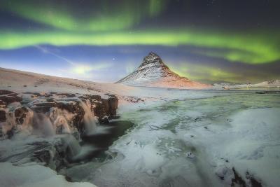 Kirkjufell Aurora III-Philippe Manguin-Photographic Print