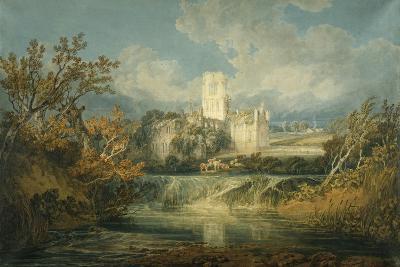 Kirkstall Abbey, Yorkshire, 1797-J^ M^ W^ Turner-Giclee Print