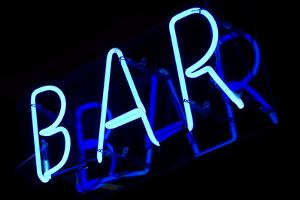Abstract Neon Sign Bar by kirza