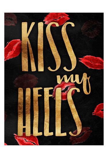 Kiss My Gold Heels-OnRei-Art Print