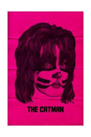 KISS - The Catman (Pink)--Premium Giclee Print
