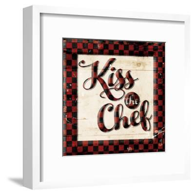 Kiss The Chef-Milli Villa-Framed Art Print