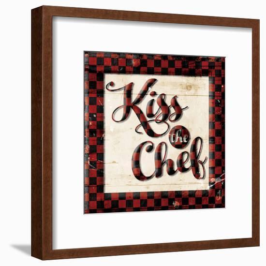 Kiss The Chef-Milli Villa-Framed Art Print