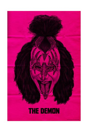 KISS - The Demon (Pink)--Premium Giclee Print