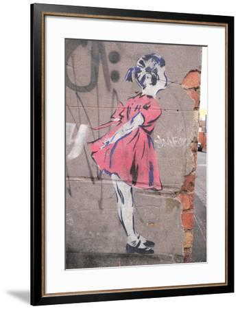 Kiss-Banksy-Framed Giclee Print