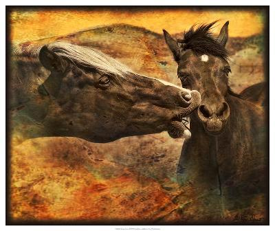Kissing Horses I-David Drost-Giclee Print