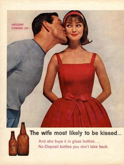 Kissing, Sex Discrimination, USA, 1950--Giclee Print