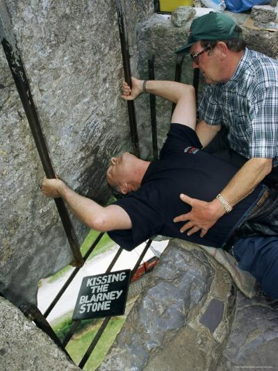 Kissing the Blarney Stone, County Cork, Munster, Eire (Republic of Ireland)-Julia Bayne-Photographic Print