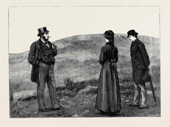 Kit, a Memory; as They Drew Near to the Hut a Man in Broadcloth Emerged from It, Smoking a Cigar--Giclee Print