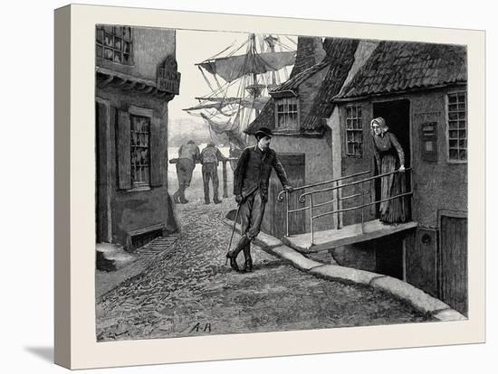 Kit, a Memory; Kit and the Postmistress--Stretched Canvas Print