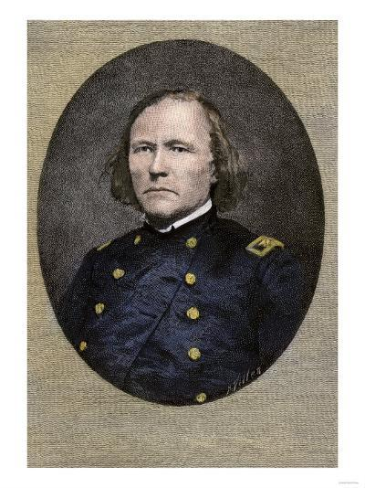 Kit Carson, in His Civil War Uniform, as Commander of First New Mexico Volunteers--Giclee Print