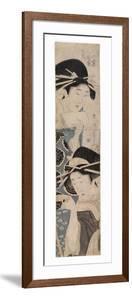 Two Courtesans, One with a Sake Cup, C.1795-1804 by Kitagawa Kikumaro
