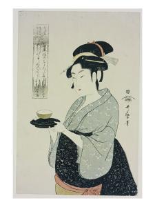 A Half Length Portrait of Naniwaya Okita, Depicting the Famous Teahouse by Kitagawa Utamaro