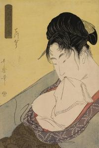A Low Class Prostitute , from the series 'Five Shades of Ink in the Northern Quarter' , c.1794-95 by Kitagawa Utamaro