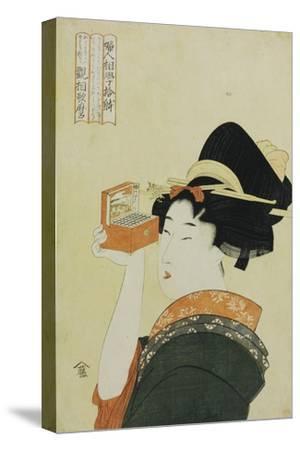 A Young Girl Looking Through a Nozoki Megane, Magic Lantern