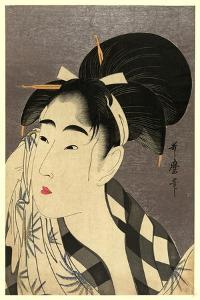 Ase O Fuku Onna by Kitagawa Utamaro