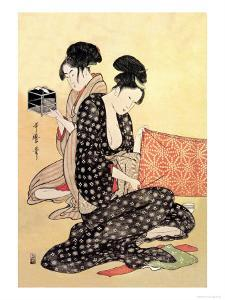 Beauties at Home by Kitagawa Utamaro