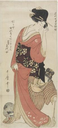 Chiyo from Kaga Province, C. 1801-1804 by Kitagawa Utamaro