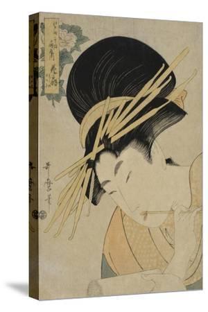 Courtesan Hanaogi of the Ogiya House, 1801