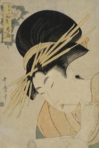 Courtesan Hanaogi of the Ogiya House, 1801 by Kitagawa Utamaro