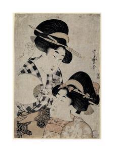 Dos Jóvenes Mujeres Con Abanico, 1790-1800 by Kitagawa Utamaro