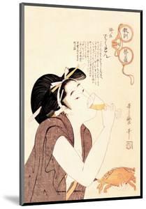 Drunken Courtesan by Kitagawa Utamaro