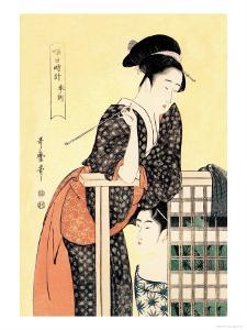 Early Afternoon: The Hour of the Ram by Kitagawa Utamaro