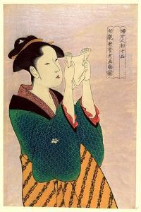 Fumiyomu Onna by Kitagawa Utamaro