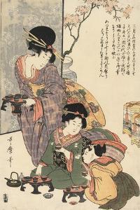 Girl's Festival (Hinamatsuri) by Kitagawa Utamaro