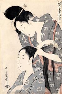 Hairdresser (Kamiyu), C. 1798 by Kitagawa Utamaro