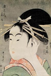 Head of a Woman by Kitagawa Utamaro