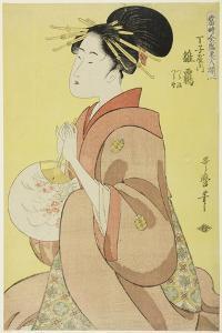 Hinazuru of the Chojiya, from the series 'Array of Supreme Beauties of the Present Day ', 1794 by Kitagawa Utamaro