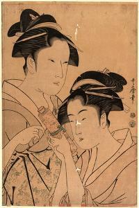 Kagiya Osen to Takashima Ohisa by Kitagawa Utamaro