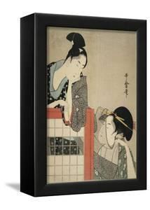 Lady and Gentleman by a Screen, 1797 by Kitagawa Utamaro