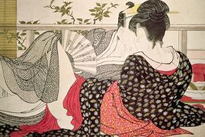 Lovers from the 'Poem of the Pillow' ('Uta Makura') by Kitagawa Utamaro