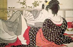Lovers from the 'Poem of the Pillow' ('Uta Makura') by Kitagawa Utamaro