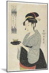 Naniwaya Teahouse Waitress Okita, C. 1793 by Kitagawa Utamaro