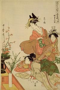 P.351-1945 Scene 4, Comparison of Celebrated Beauties and the Loyal League, C.1797 by Kitagawa Utamaro
