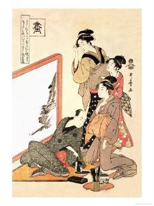 Painting at Home by Kitagawa Utamaro