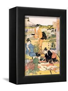Painting in the Garden by Kitagawa Utamaro